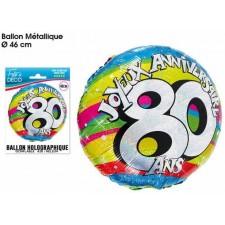 Ballon anniversaire mylar 80 ans