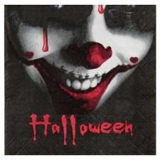 Serviettes Halloween avec tête de clown