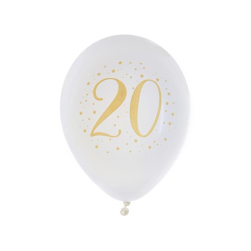 Ballons 20 ans pour anniversaire en latex