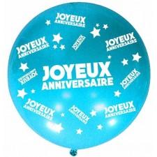 Ballon géant anniversaire bleu