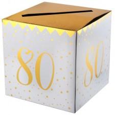 Urne 80 ans en carton pour anniversaire