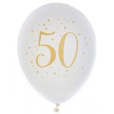 Ballons 50 ans en latex pour anniversaire