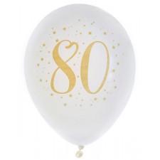 Ballons en latex pour anniversaire 80 ans