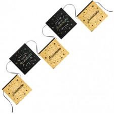 Guirlande noire et or pour anniversaire