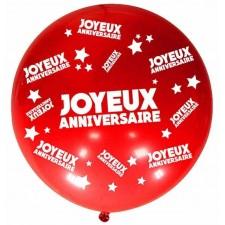 Ballon d'anniversaire rouge géant