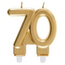Bougie 70 ans dorée pour anniversaire