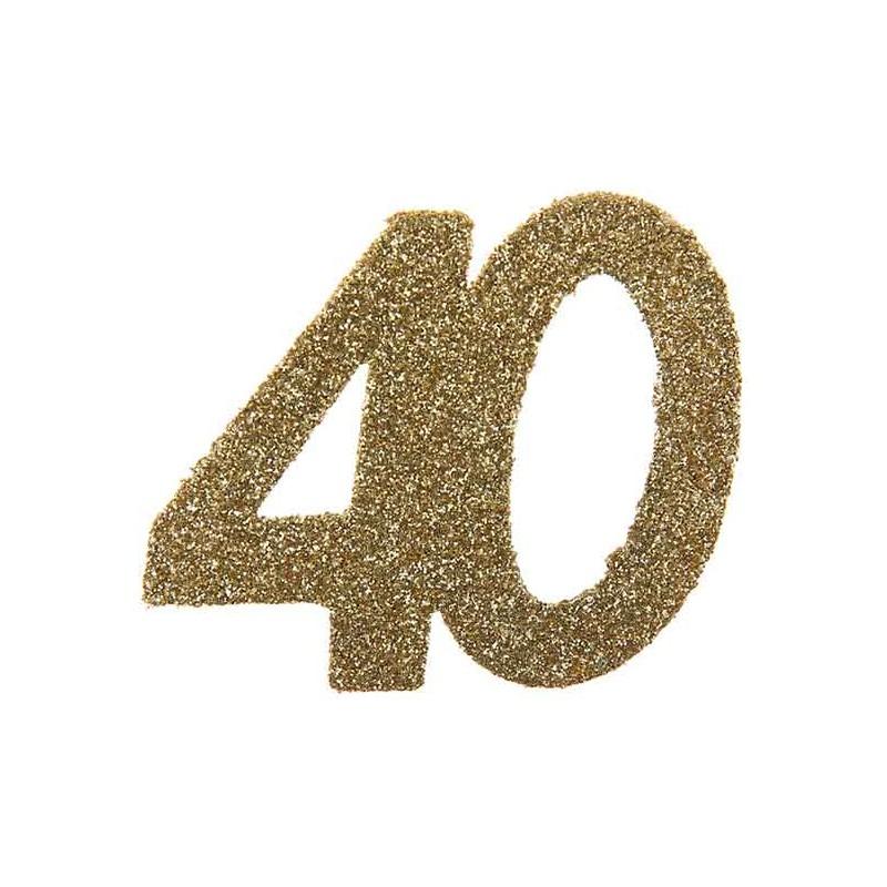 Confettis pour table d'anniversaire 40 ans dorée