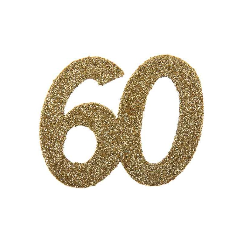 Confettis de table pour anniversaire 60 ans dorés