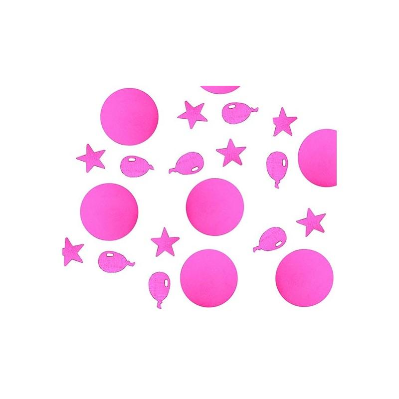 Confettis de table festifs roses