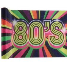 Chemin de table sur le thème des années 80