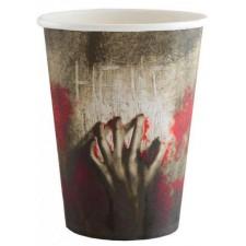 Gobelets Halloween pour décoration de table sur le thème des zombies