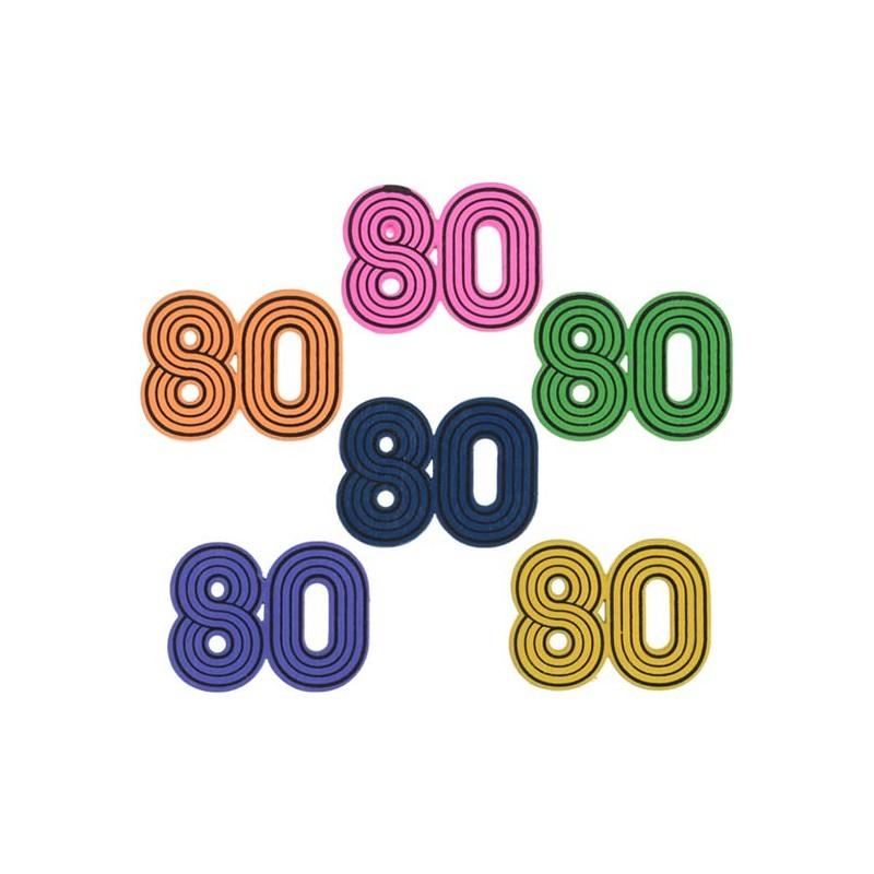 Confettis de table pour décoration sur le thème des années 80