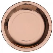 Assiettes en carton rose gold très chics 26 cm