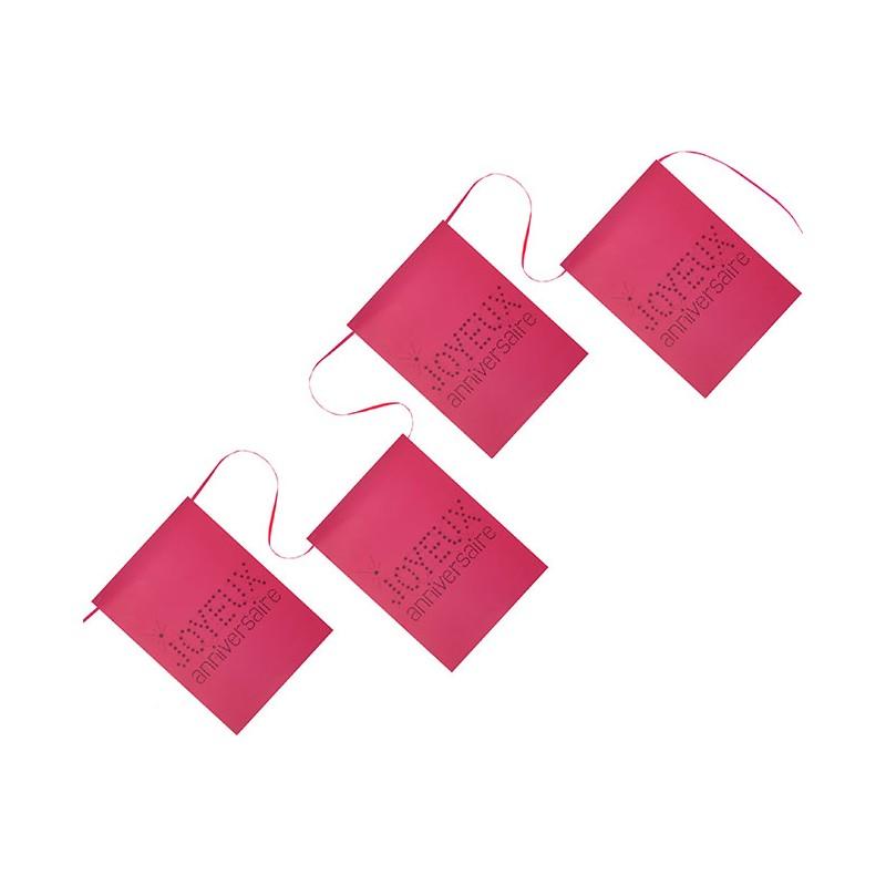 Banderole rose pour anniversaire