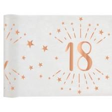 Chemin de table 18 ans rose gold pour anniversaire