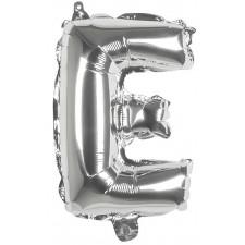 Ballon en forme de lettre E mylar couleur argent