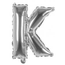 Ballon lettre K alu couleur argent