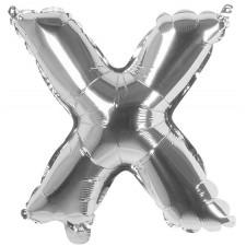 Ballon en forme de lettre X alu couleur argent