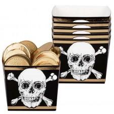 Ramequins en carton pour soirée à thème pirate