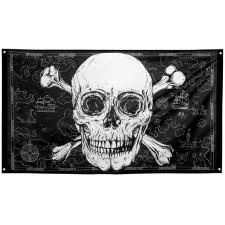 Drapeau pirate pour anniversaire sur le thème des pirates ou une soirée à thème