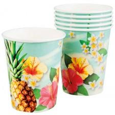 Gobelets en carton pour soirée hawaienne