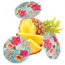 ombrelles pour décoration de table sur le thème Hawaï