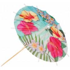 Parapluies thème Hawaï pour décorer des cocktails ou des amuse-bouches
