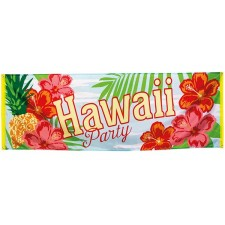 Bannière décorative thème Hawaï pour une soirée à thème ou un anniversaire