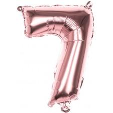 Ballon en forme de chiffre 7 rose gold 36 cm en alu