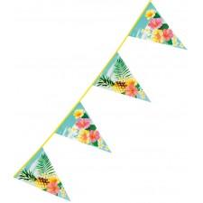 Guirlande fanions pour anniversaire ou soirée sur le thème Hawaï