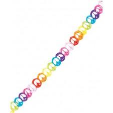 Banderole hippie ambiance peace and love très colorée de 4 mètres