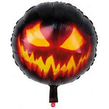 Ballon alu citrouille maléfique pour décoration Halloween gonflable à l'hélium