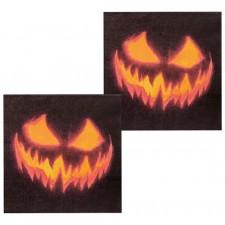 Serviettes Halloween avec citrouilles maléfiques