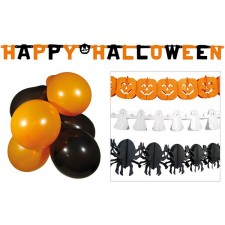 Kit complet de décorations pour Halloween ballon et guirlandes