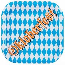 Assiettes en carton sur le thème de la fête de la bière appelée Oktoberfest