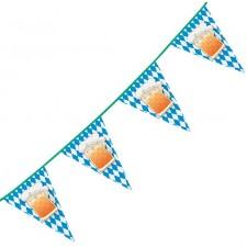 Guirlande à fanions décorative pour la fête de la bière aussi appelé Oktoberfest