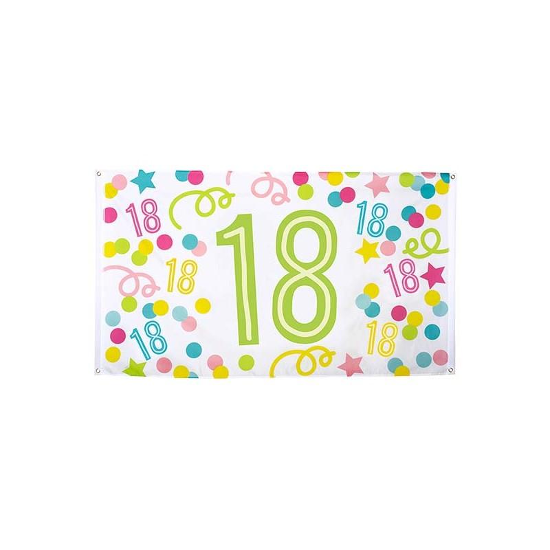 Drapeau pour anniversaire 18 ans