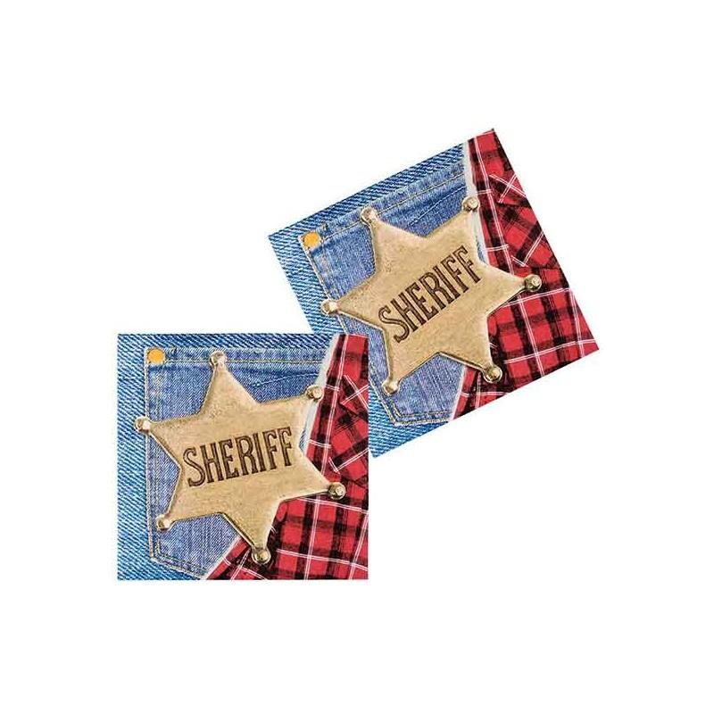 Serviettes en papier pour anniversaire Far West de cowboy ou soirée sur le thème du Far West