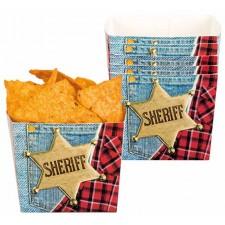 Ramequins en carton pour gâteaux apéritifs ou bonbons idéal pour une soirée ou un anniversaire sur le thème du Far West
