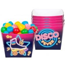 Ramequins sur le thème disco pour bonbons ou gâteaux apéritifs
