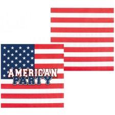 Serviettes en papier sur le thème de l'Amérique