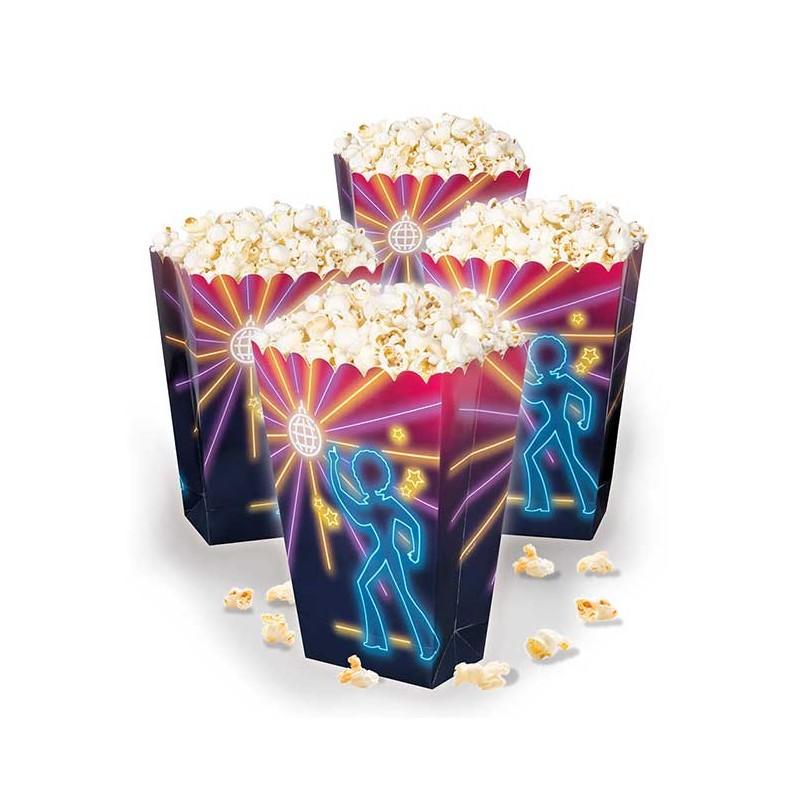 Boite en carton disco pour mettre des popcorns
