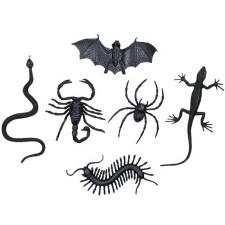 Lot d'insectes décoratifs pour Halloween ou soirée horreur