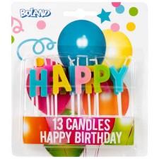 Bougie pour gâteau d'anniversaire Happy Birthday