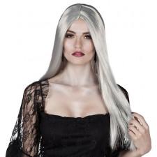 Perruque de sorcière grise pour Halloween adulte