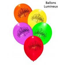 Ballons lumineux pour anniversaire