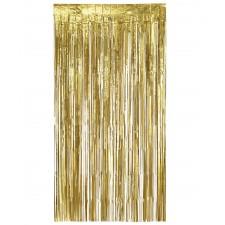 Rideau doré avec franges