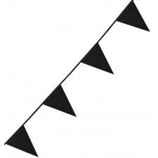 Guirlande fanions noire de 6 mètres
