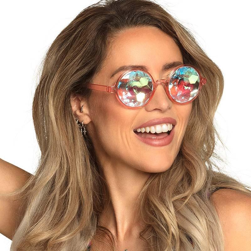 Lunettes hippie originales prismes