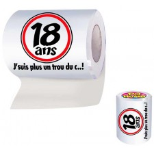 Rouleau de papier toilette la majorité pour anniversaire 18 ans